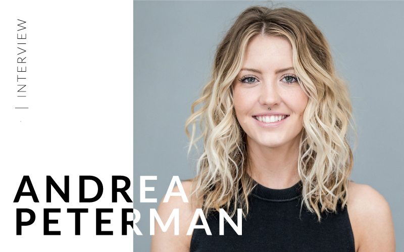 Photo of Andrea Peterman a hairstylist and renowned colorist