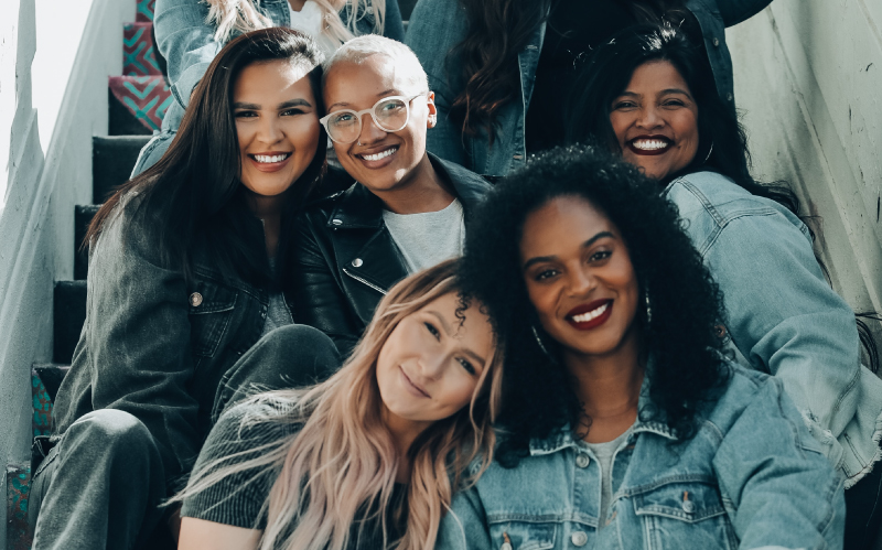 Photo of a group of women all with authentic beauty